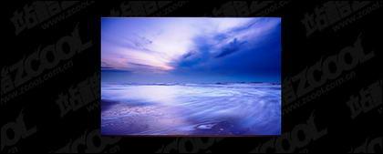 El mar al atardecer foto material-4