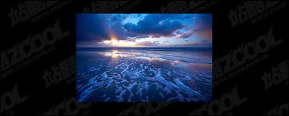 El mar al atardecer foto material-5