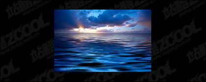 El mar al atardecer foto material-6