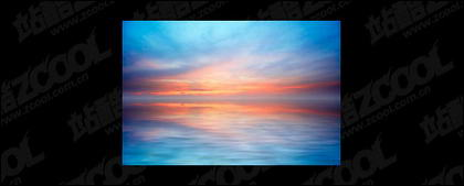 海で夕暮れの写真素材-7