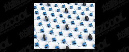 3D-Computer-Netzwerk verbinden Bildmaterial-1