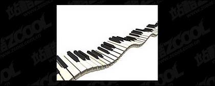 Fluktuasi dalam keyboard gambar bahan