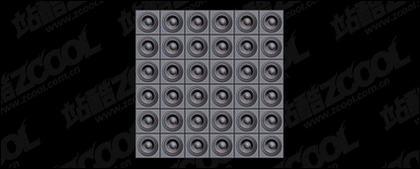 Lautsprecher gekachelt hintergrund-Bildmaterial