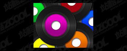 CD-Vinyl-Bildmaterial Farbe