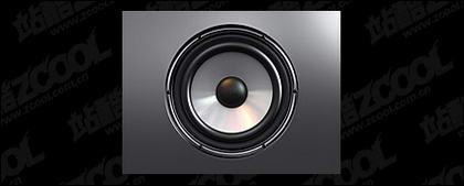 Material de imagen de altavoces estéreo