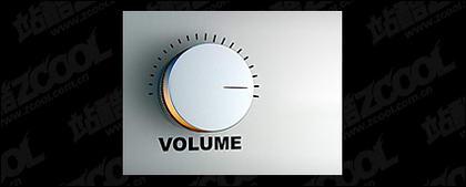 Material de imagen de regulador de volumen