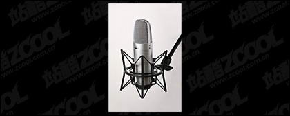 Material de imagen de micrófono de grabación