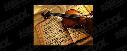 Material de violino e música