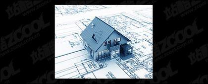 Edificios en 3D y la planta -1