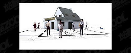 Edificios en 3D y la planta -4