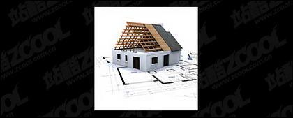 Edificios en 3D y la planta -7
