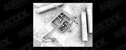 Edificios en 3D y la planta -8