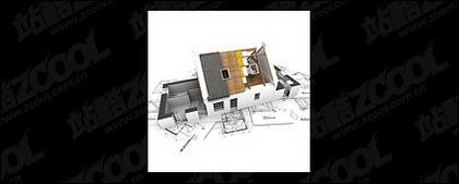 3 D の建物とフロア プラン-9