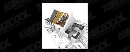 Les bâtiments 3D et le plan d'étage -11