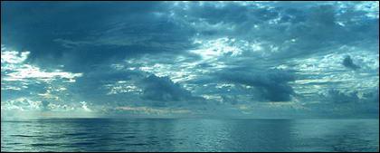 空の写真素材の海