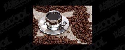 Кофе и кофе в зернах изысканный рисунок качественный материал