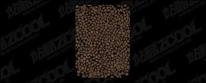 背景素材画像品質のコーヒー豆