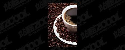 커피와 커피 콩 프리미엄 사진 품질의 소재