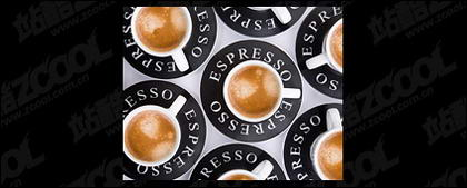 Surplombe le matériel de référence café de qualité photo