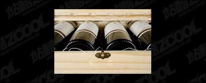 Случай красного вина картина материала