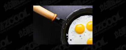 Pfanne gebratenen Ei-Qualit�t-Bildmaterial