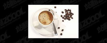 Café et les grains de café de matériel de qualité picture