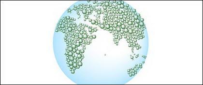 Wasser Vektorkarte von Erde-2