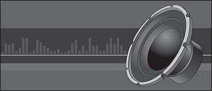Haut-parleurs stéréo vecteur matériel