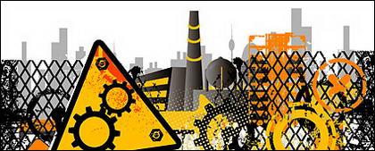 Sites de matériaux de construction de vecteur