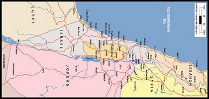 Carte vectorielle du monde - Israël, Palestine