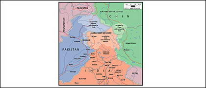 Carte de vecteur de la carte de Jammu du monde - Cachemire,