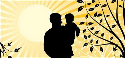 Keluarga bahagia (putranya) elemen vektor bahan