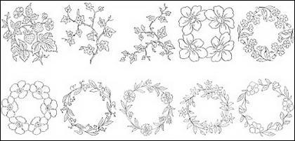 Type de fleur de dessin vectoriel diagramme-6.