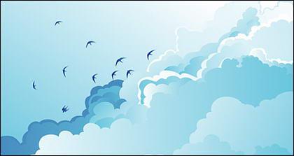 Dayan vecteur bleu ciel et les nuages blancs