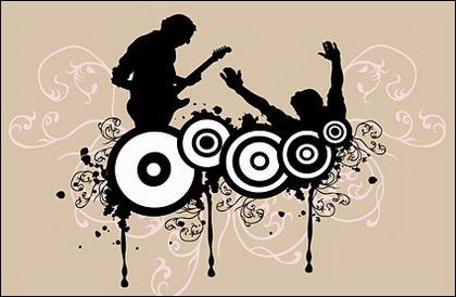 Musik fanatik vektor