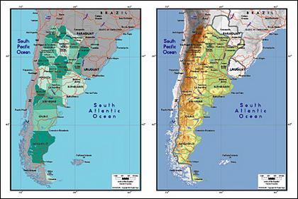 Mapa de vetor do material requintado mundo - mapa Argentina