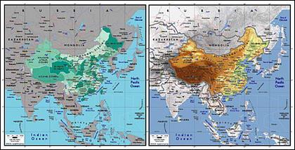 Mapa de vetor do material requintado mundo - mapa chinês