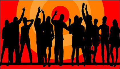 Orang-orang dalam gambar bahan - cheers