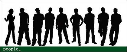 Vektor berbagai tokoh dalam gambar