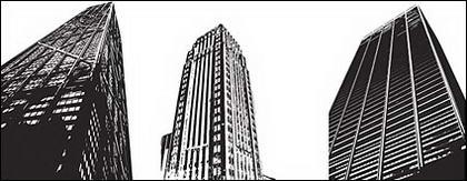 Vecteur de gratte-ciel modernes