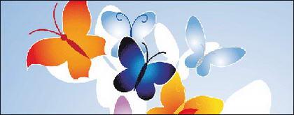 Logo de mode vecteur papillon