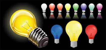 Matériau de vecteur Cool ampoule
