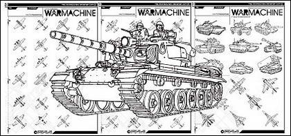 La ligne de dessin d'avions de chasse et de chars