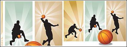 ผู้เล่นบาสเกตบอลวัสดุของเวกเตอร์ในรูปภาพ