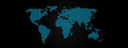 Carte bleu-point de la matière de vecteur de monde