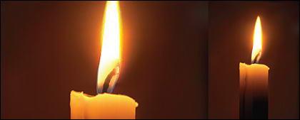 ไอการเรนเดอร์ที่เหมือนจริงของ candles