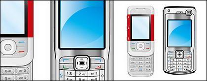 Les deux téléphones vecteur matériel