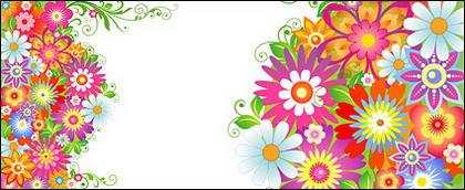 Le patron de fleurs colorées