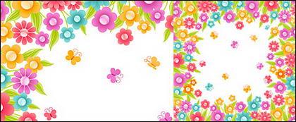 Les fleurs colorées vecteur de matériau de petits cristaux