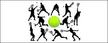 ตัวเลขการกระทำเทนนิสในรูปภาพ